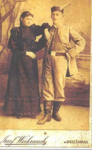 Dziadek Autora Franciszek Werschler z siostrą Julią